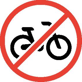 Picto vélo non admis